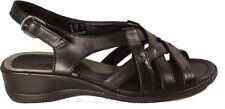 ECCO Schuhe Riemchen Sandaletten schwarz echt Leder Keilsohle NEU