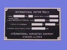 1948 1949 1950 1951 1952 1953 1954 1955 INTERNATIONAL TRUCK INFO DASH PLAQUE ID