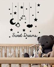 Vinyl Wall Decal Sweet Dreams Bedroom Nursery Kids Room Stickers (ig4740)