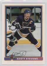 1991-92 Bowman #369 Scott Stevens St. Louis Blues Hockey Card