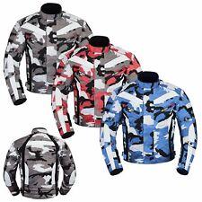Cordura Jacke Motorradjacke Camouflage Motorrad Textiljacke XS-6XL Rot,Blau,Grau
