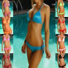 Sexy Triangle Pucker Back Brazilian Bikini Scrunch Butt Swimsuit Bathing suit 31