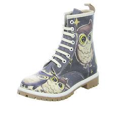 DOGO Damen Stiefel Owls Family Synthetik