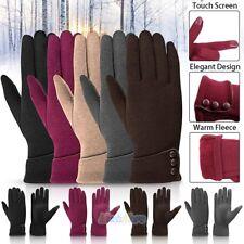 Womens Touch Screen Gloves Thermal Full Finger Fleece Lined Winter Skiing Gloves