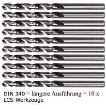 10 x DIN 340 HSS-G Spiralbohrer Metallbohrer HSSG geschliffen EXTRA LANG 2,0-7,9