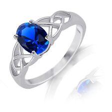 Zafiro Azul Infinity Celta Corte Ovalado Piedra de Nacimiento Original