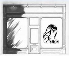 Salone di bellezza per capelli unghie VETRINA SPECCHIO Vinyl Wall Art Decalcomania Sticker