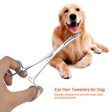 Hot Pet Grooming Dog Cat Ear Hair Puller Forcep Pulling Tweezer Stainless Steel