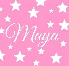 Nome Personalizzato con le stelle Wall Sticker Decalcomania Ragazzi Ragazze Bambini Nursery Deco