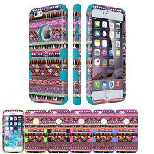 AZTEC Retro Tribal Hybrid Shock Proof hard Protective Case Apple Iphone 6/6 Plus