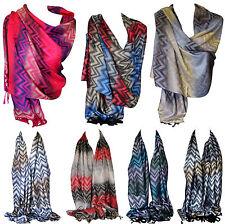 Zigzag Aztec Print Pashmina Style Scarves, Wrap, Shawl, Stole, Head Scarf