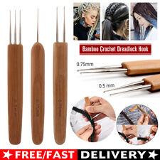 Bamboo Crochet Dreadlock Hook Needle Dread Tool Braiding Hair Maintenance Craft