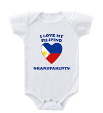 I Love My Filipino Grandparents Baby Bodysuit One Piece