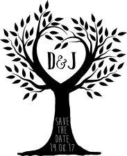 Sello de boda Personalizado-árbol Save The Date