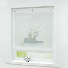 Raffrollo Küche Raffgardine Fenstergardine Modern Weiß 60 80 100 120 Voile