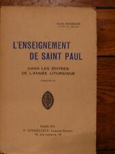 L'enseignement de SAINT-PAUL dans les Épîtres de l'année liturgique 1933