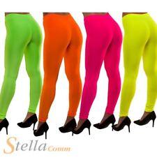Ladies Neon Leggings 80s Pop Star Fancy Dress Costume Accessory