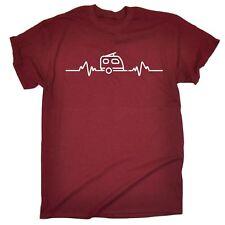 Caravan Pulse Heartbeat MENS T-SHIRT motor home funny birthday gift present him