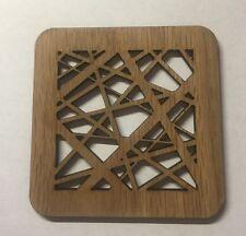 4,6,12 OAK Square Wood Coasters laser cut 4mm thick oak veneer Drink mats.
