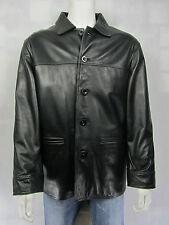 Mens Real Leather Black Jacket Shirt Biker New Style Rock Smart Casual Man