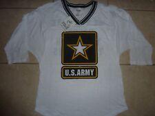 "VICTORIAS SECRET PINK RARE BLING ""U.S.ARMY"" 3/4 LONG SLEEVE VNECK TEESHIRT NWT"