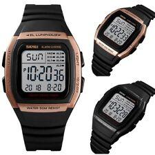 Skmei Digital Clear Display Watch 5 Alarms Stopwatch Countdown UK Seller