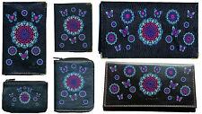 Porte Chequier ou compagnon ou porte monnaie ou porte carte grise Mandala Bleu