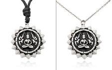 Charm Necklace Pendant Jewelry Thai Buddha Amulet Silver Pewter