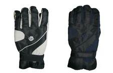 Mens ski gloves Black grey navy medium/large warm thermal lined water resistant
