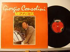 GIORGIO CONSOLINI disco LP 33 giri MEZZETA' Made in ITALY 1983 stampa ITALIANA