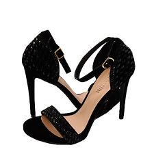Women's Shoes Blossom Angie 39 Embellished Formal Heels Black Sparkle *New*