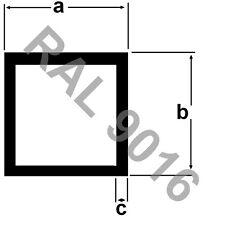 Alu Vierkantrohr pulverbeschichtet 2 Meter RAL 9016 Aluprofil Aluminium WEISS