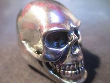 HUGE Polished Silver Skull Ring Stainless Steel Harley Biker  Multiple Sizes