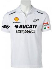 POLO DUCATI THE DOCTOR VALENTINO ROSSI maglietta t-shirt felpa moto gp BIANCA
