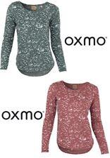 Oxmo Damen Pullover Donna-Ls   Rundhals Langarm Party Clubwear Freizeit Outfit