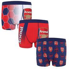 Arsenal FC - Pack de 3 calzoncillos oficiales tipo bóxer - Niño - Con escudo
