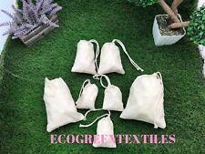 8x12 inch 100% Cotton Drawstring Muslin bags Choose Quantities 25, 50,100, 200  00004000