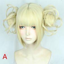 Ladies Wig Anime My Hero Academia Toga Cosplay Hair Full Wigs Blonde Ponytail
