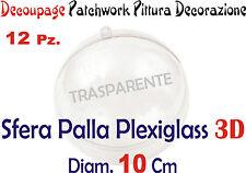 NATALE SFERA PALLINA PLEXIGLASS 12 Pz DIAM CM 10 DECOUPAGE PATCHWORK PITTURA