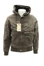 Giacca da uomo marrone Billabong B52 con cappuccio cappotto tasche e polsino