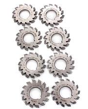 Involute Gear Cutters 8 Pcs DP8 DP10 Dp16 DP20 DP22 PA14-1/2 HSS 8H Set No1-8