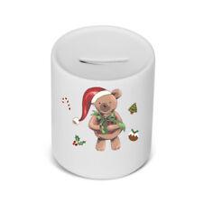 PERSONALISED Ceramic Childrens money / saving box in Christmas Teddy Bear Gift