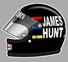 James HUNT helmet left Sticker gauche