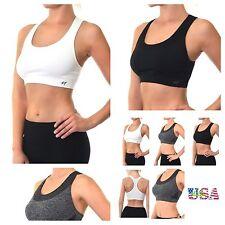 Women Sports Bra Racer back Tank Top Fashion Sleeveless Crop Bustier Tops Yoga