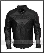 Clark Kent Smallville Superman Man Of Steel Black Leather Jacket Cosplay Costume