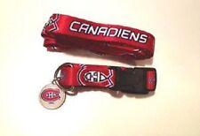 NHL Montreal Canadiens PET SET DOG COLLAR LEASH ID TAG (SIZES)