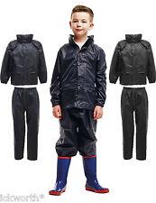 KIDS REGATTA WATERPROOF JACKET & TROUSERS SUIT RAINSUIT BOYS GIRLS CHILDRENS