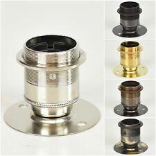 "E27 ES Edison Screw Batten Lamp Bulb Holder + Shade Ring Vintage 2"" Centres"