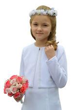 Bolerojacke Jacke Bolero Kommunion Blumenmädchen Kommunionjacke Perlen edel
