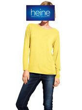MANDARIN Rundhalsshirt, gelb, Einsatz mit RV hinten NEU!!! KP 39,90 € SALE%%%